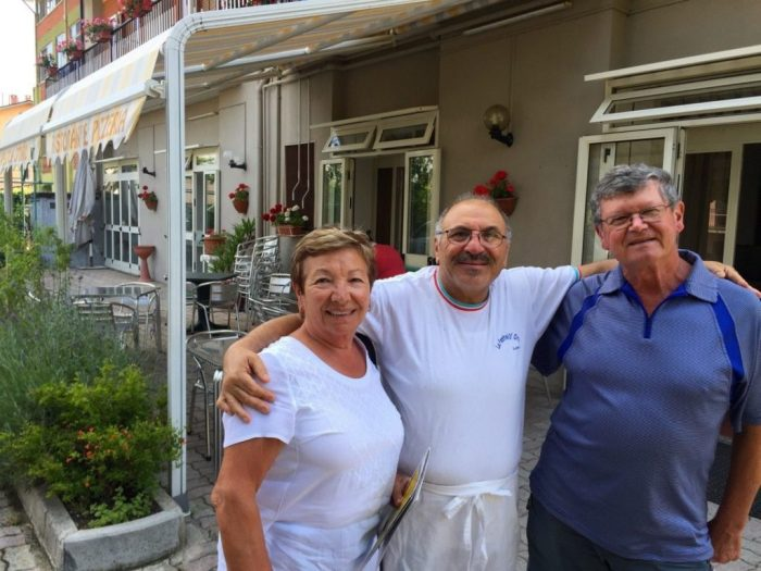 Mum, Franco (owner of La Pentola D'Oro) and Dad