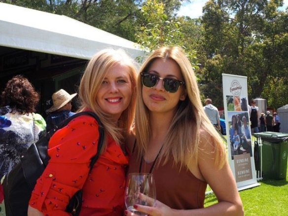 The lovely Michelle and Sarah enjoying the Gourmet Village