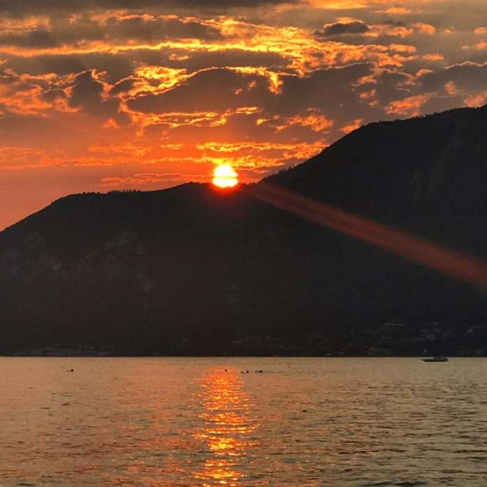 Lago d'Iseo sunset