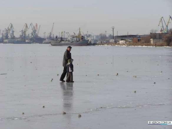 керченский пролив, лед и снег, 2012, крым