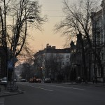 Вечерняя Лютеранская (верхняя часть, возле Администрации Президента)