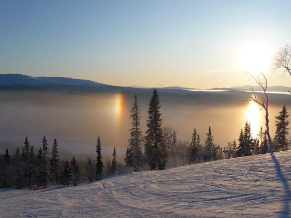 горы в Швеции зимой