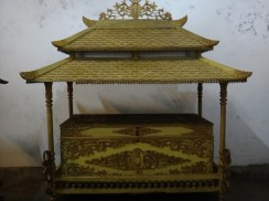 Antique Gold Color Box in Museum Kasultanan Surakarta