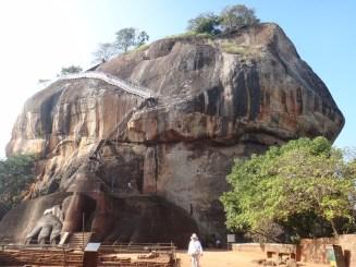 At the Bottom Lion's Rock Sigiriya