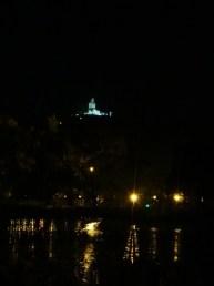 Budha Statue View From Bogambara Lake at Night