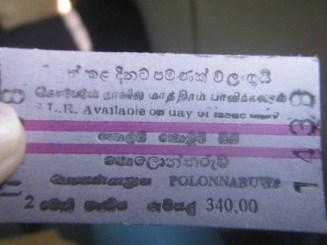 Tiket Kereta Colombo Fort - Polonnaruwa