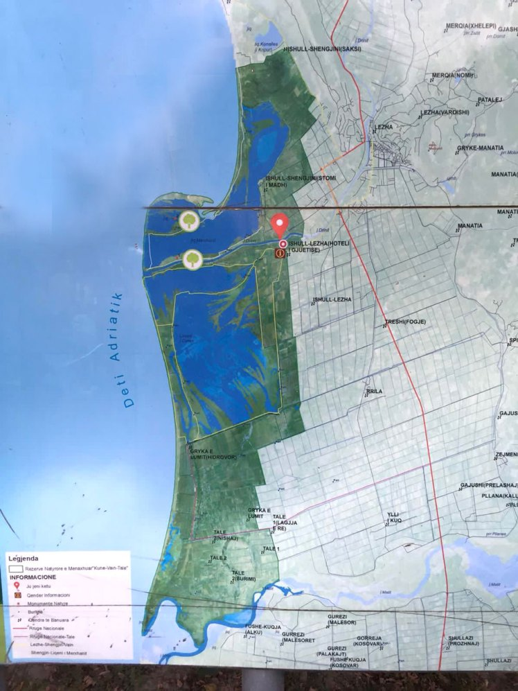 Kaart van Ishull Lezha.