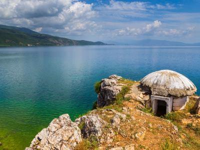 Bunker Lin Albanie meer van Ohrid
