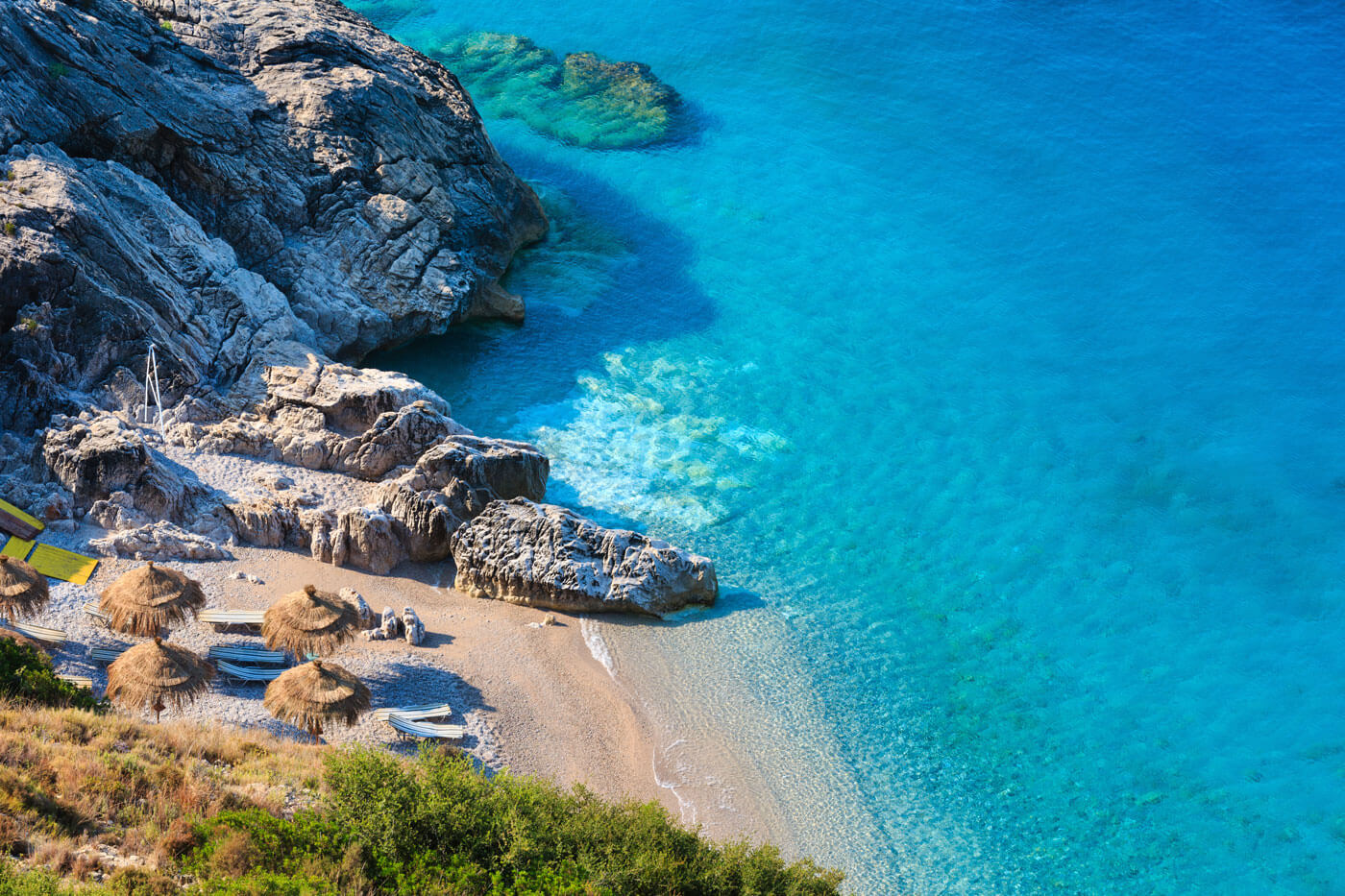 Prachtig jala beach Albanie