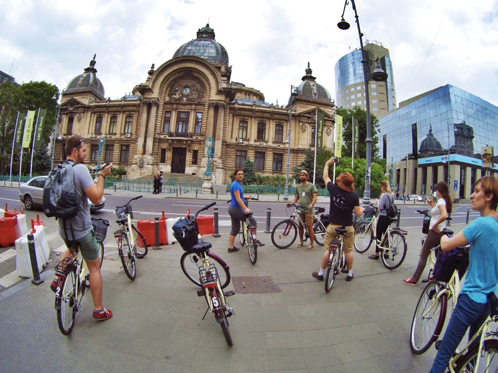 biking in Bucharest
