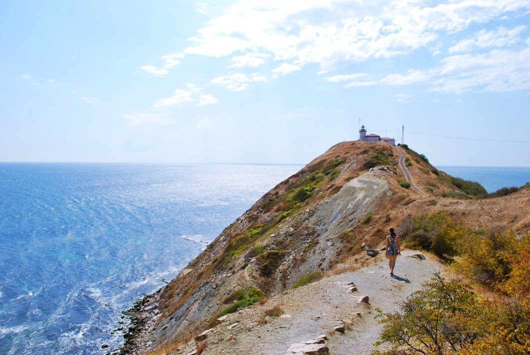 black sea coast in bulgaria - cape emine