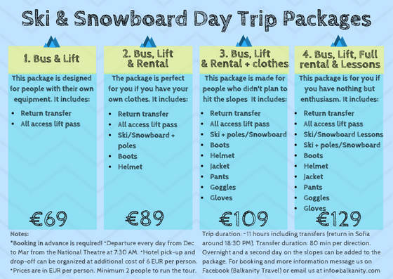 ski and snowboard day trip from Sofia to borovets