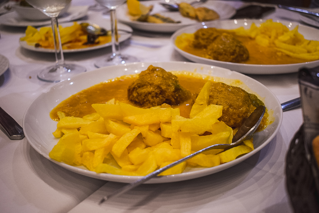 Albóndigas in almond sauce - food to try in Malaga