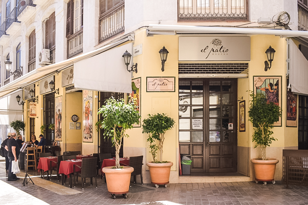 El Patio restaurant in Malaga