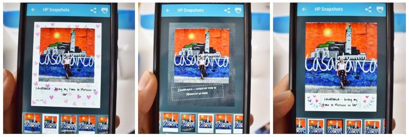 Hp Deskjet Advantaje - printing photos from mobile