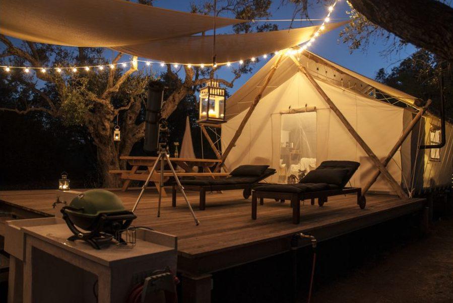 safari tent in Italy