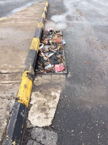 Litter clogs drains and gullies, causing floods during heavy rainfall
