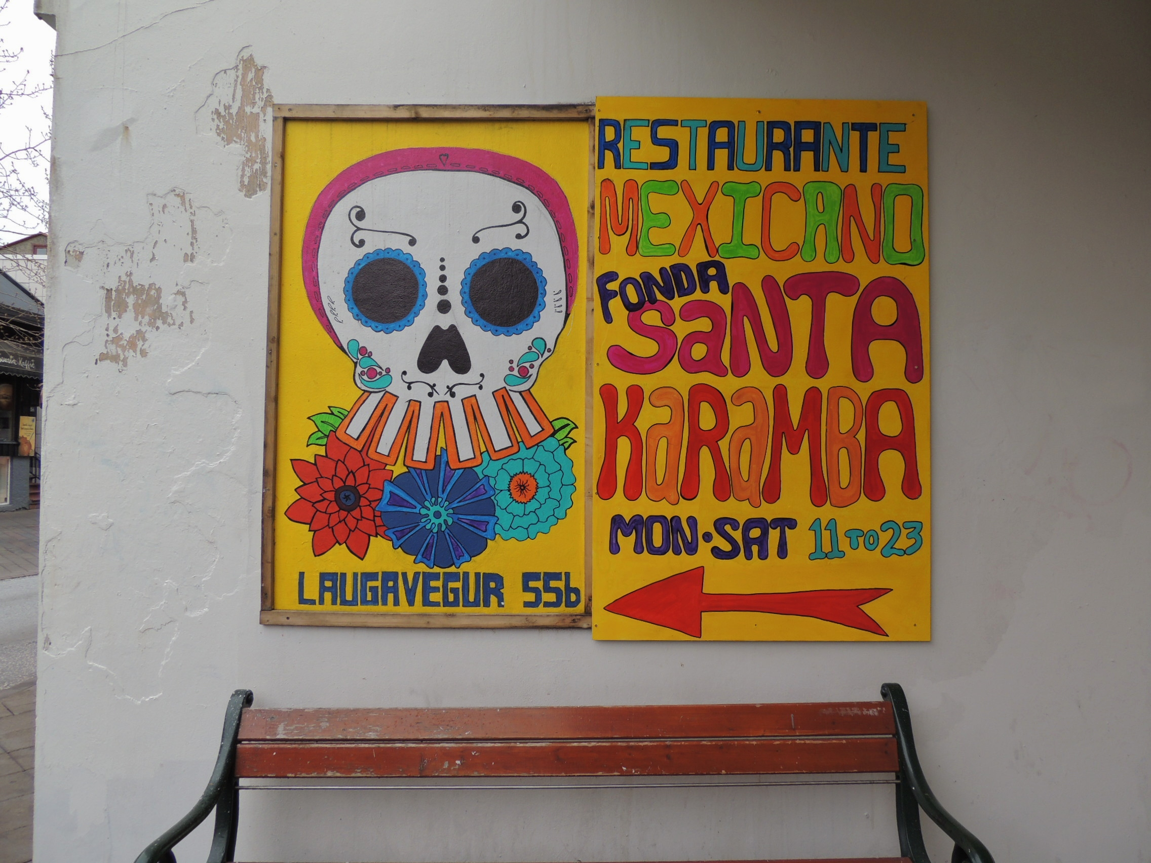 photo essay reykjavik skull by skull the travelling calavera the first example i found was this mexican restaurant complete day of the dead style logo