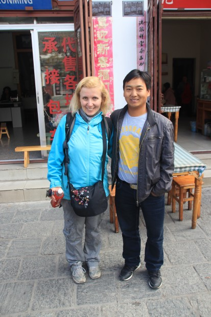 River, our local guide, and me in Dali, Yunnan,