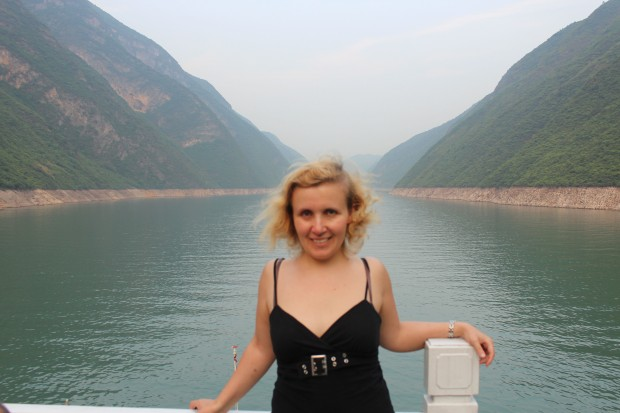 It is always windy there - Myself on the Yangtze River Cruise
