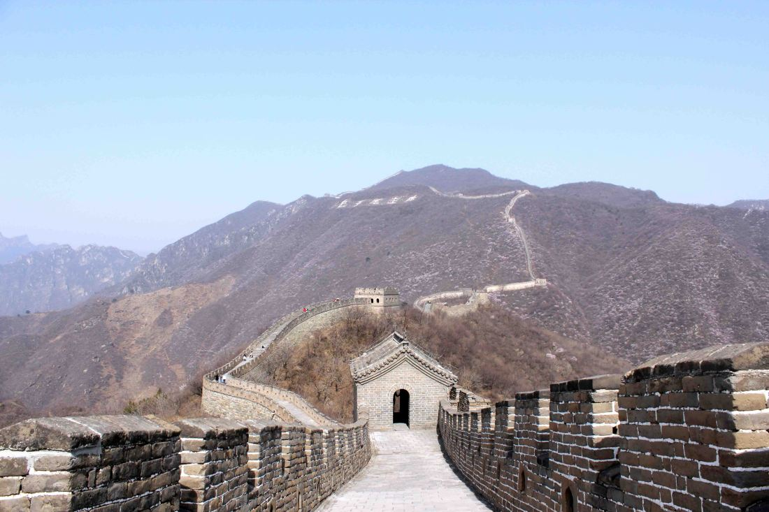 Mutianyu is a lesser touristy section of the Great Wall than other parts
