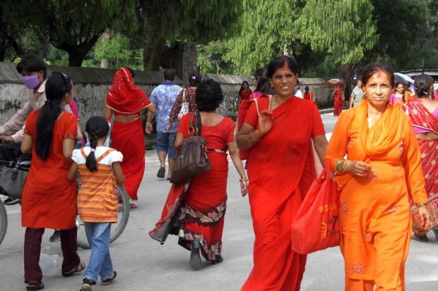 Nepali Women in the streets of Kathmandu