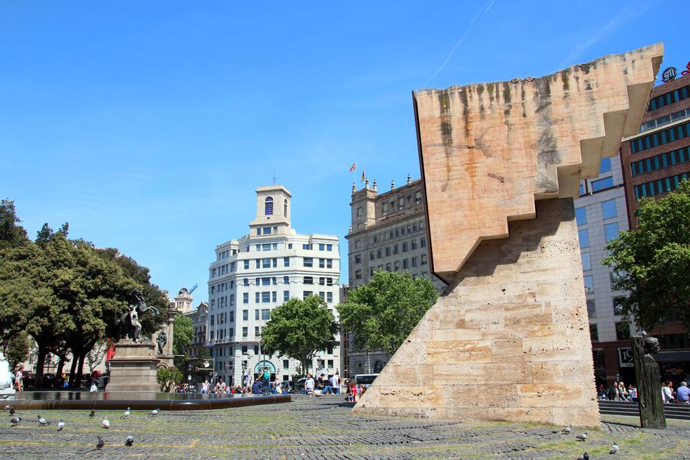 Placa de Catalunya Barcelona Spanien