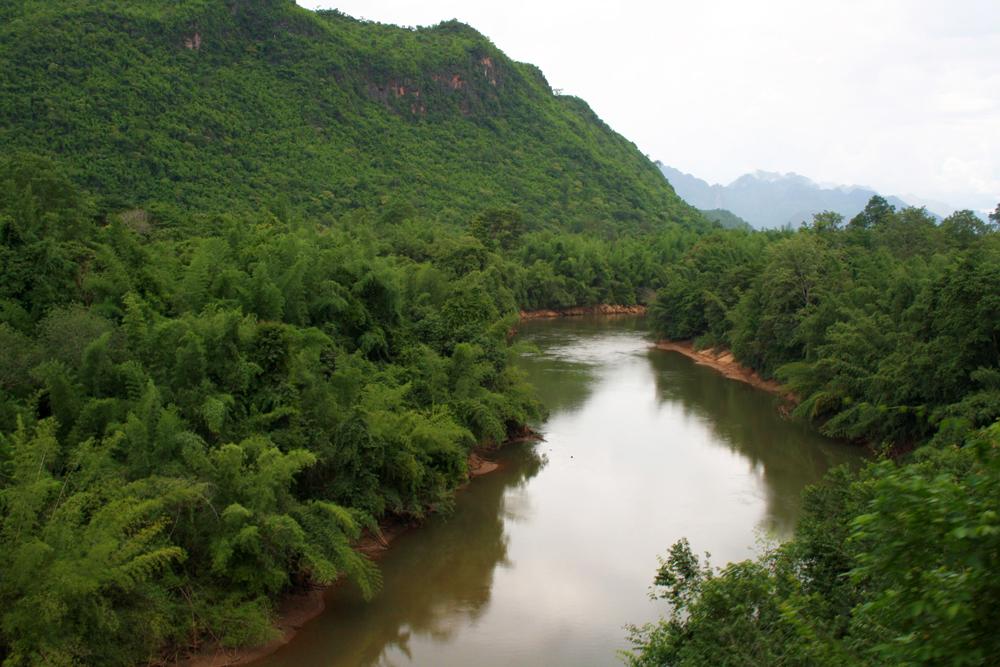 Zugfahrt Hellfire Pass Nam Tok Kanchanaburi Thailand Asien