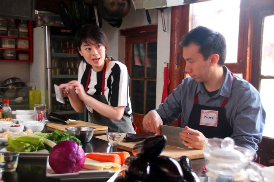 Sichuan cooking class Beijing China