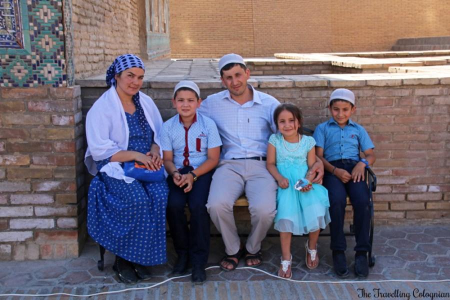 The - Jewels of Samarkand - Shah-i-Zinda - Uzbek family