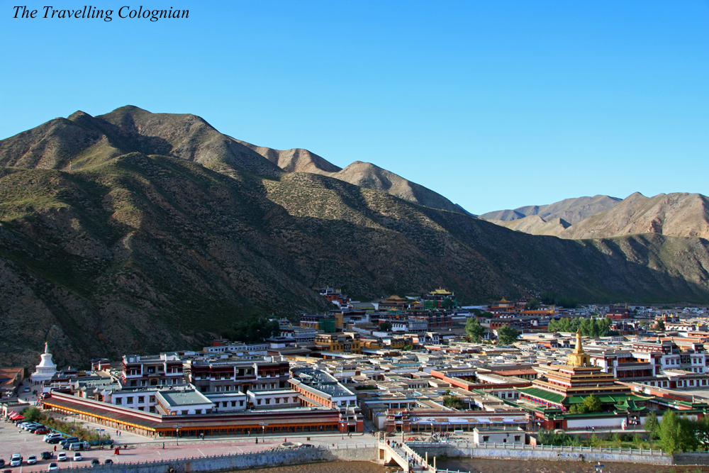 Travel blogger review 2017 Xiahe from above Gansu China ASIA
