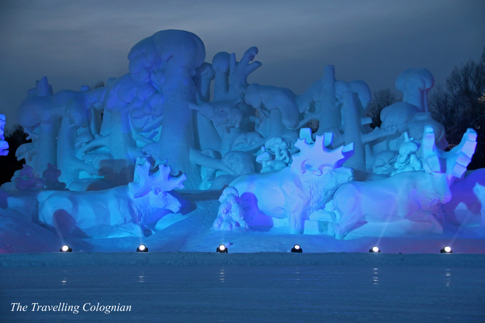 Harbin Ice and Snow Festival Snow Sculptures on Sun Island Harbin Heilongjiang China ASIA