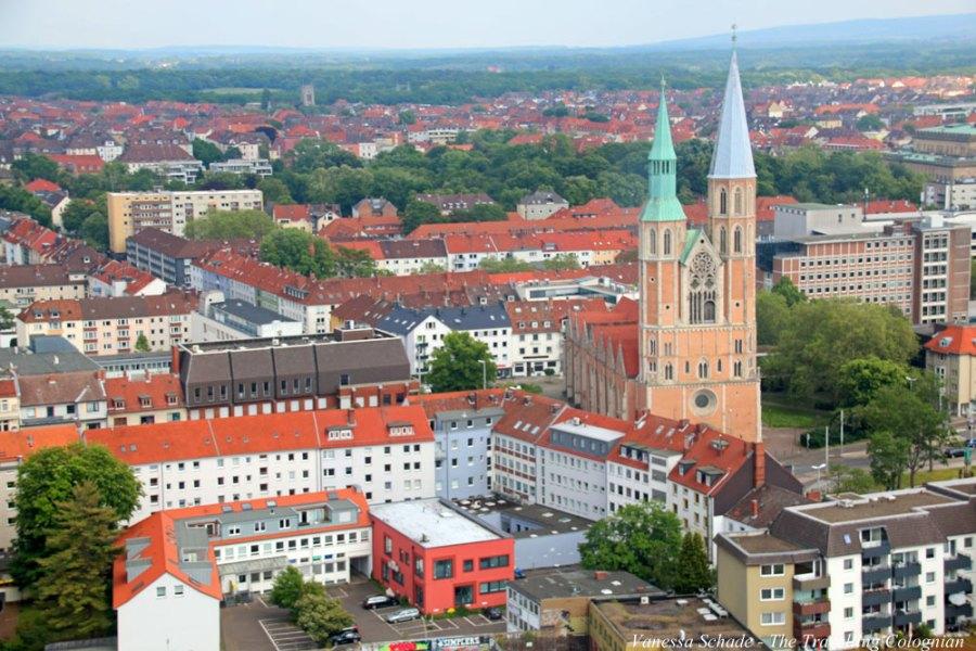 Kirche St. Katharinen von oben Hagenmarkt Braunschweig Niedersachsen Deutschland EUROPA