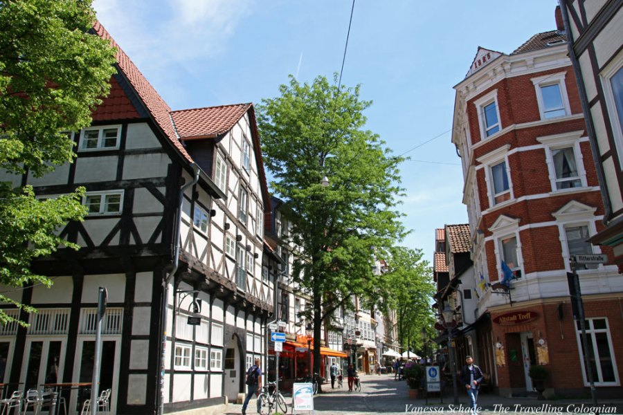 Fachwerkhäuser Magniviertel Braunschweig Niedersachsen Deutschland EUROPA