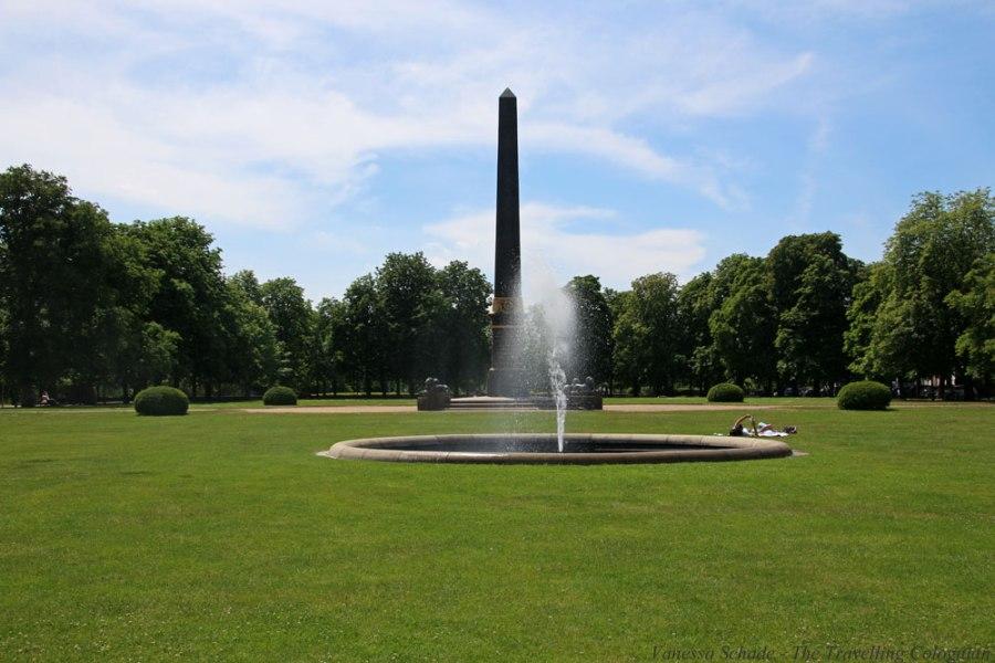 Obelisk Löwenwall Braunschweig Niedersachsen Deutschland