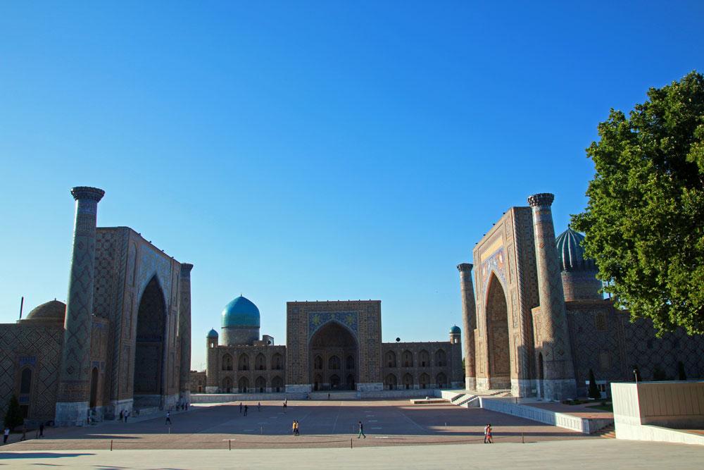 Der Registan ist der schönste Platz in Samarkand in Usbekistan