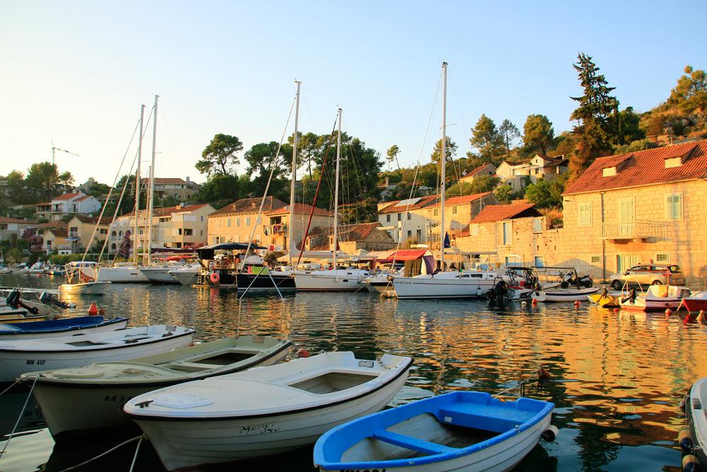 Fishing village on Brac Island in Croatia