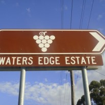 Waters Edge Estate Swan Valley Western Australia sign