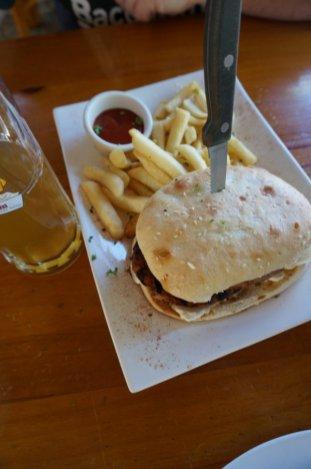 Duckstein Brewery sausage sandwhich lunch special Swan Valley Perth