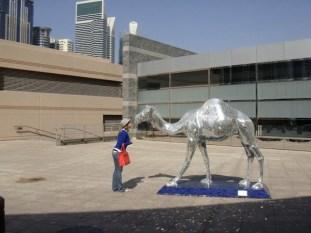 Dubai camel statue