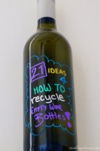 21 ideas for how to recycle empty wine bottles