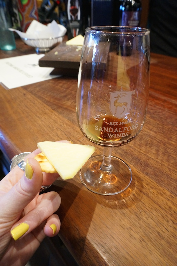 Sandalford Wine Tasting with Cheese & Crackers