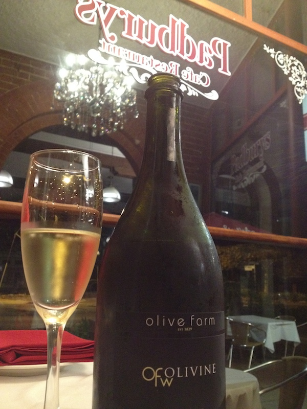 Padburys Cafe Guildford Olive Farm Wines