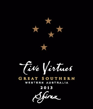 Five Virtues 2013 Shiraz, Great Southern