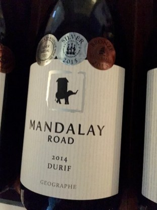 Mandaly Road 2014 Durif at Cellar Door in The City - Geographe Wineries