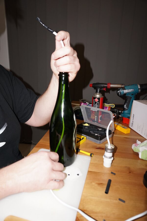 DIY Wine Bottle Lamp 6