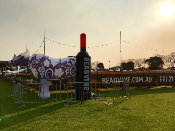 beauvine-food-wine-festival-giant-wine-bottle-and-cow