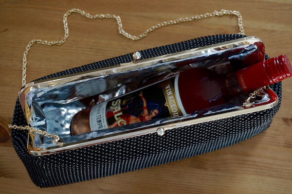 Cool Clutch Wine Handbag - Tiffani - Inside