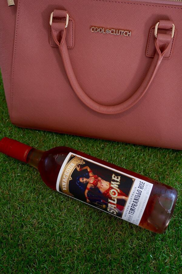 Cool Clutch Wine Handbag - Vinaceous Wine