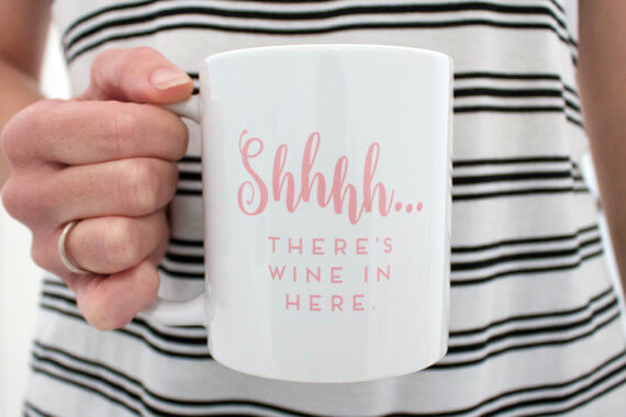 Shhh.. There's Wine in Here Mug by Pink Teapot Press Etsy